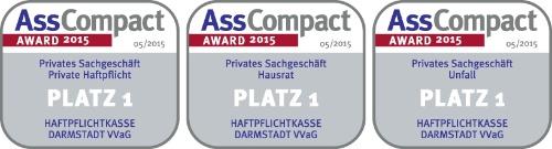 Haftpflichtkasse Darmstadt Unfallversicherung Auszeichnung